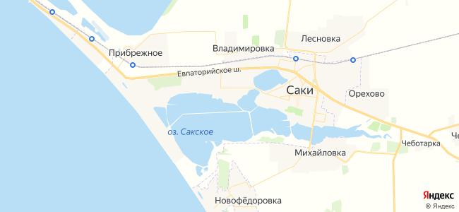 Эллинги Саки - объекты на карте