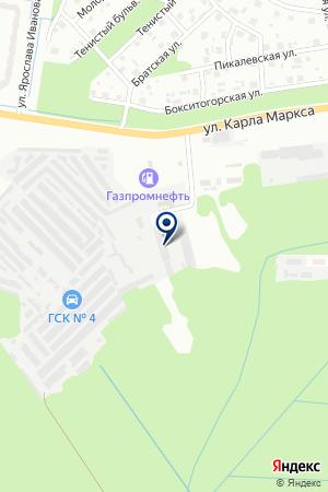 ЛЕСОКОМБИНАТ ЮСОН на карте Тихвина