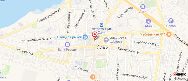 Карта расположения пункта доставки Саки Советская в городе Саки