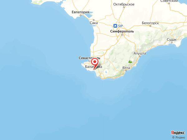 Балаклава на карте