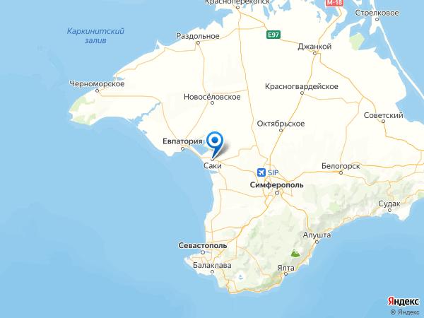 Саки на карте
