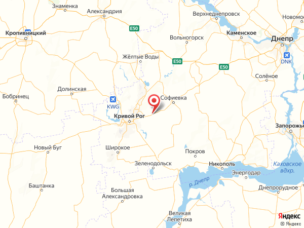 село Широкое на карте
