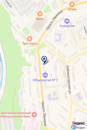 ПРОДОВОЛЬСТВЕННЫЙ МАГАЗИН РУСЬ на карте Кировска