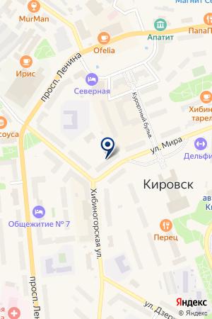 ТЕХНОЦЕНТР СЕВЕР на карте Кировска