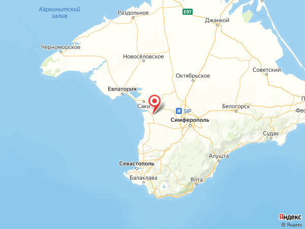 село Тепловка на карте