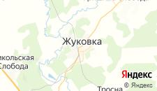 Гостиницы города Жуковка на карте