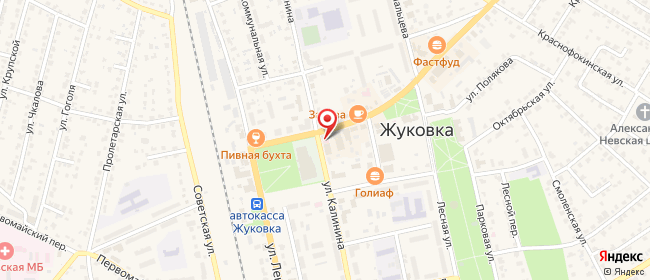 Карта расположения пункта доставки Халва в городе Жуковка