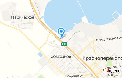Местоположение на карте пункта техосмотра по адресу Респ Крым, г Красноперекопск, ул Таврическая, д 1Д