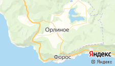 Отели города Орлиное на карте