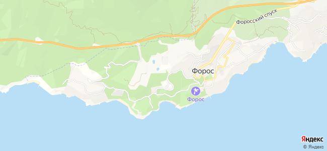 Частный сектор Фороса - объекты на карте