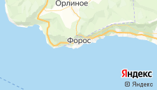 Базы отдыха города Форос на карте