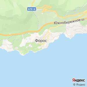 Карта города Фороса