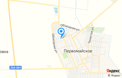 Местоположение на карте пункта техосмотра по адресу Респ Крым, Первомайский р-н, пгт Первомайское, ул Октябрьская, д 116Б, пом 11