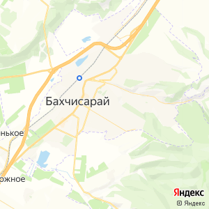 Карта города Бахчисарая