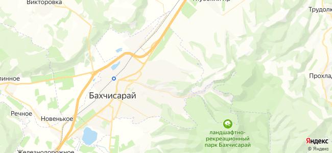 Частный сектор Бахчисарая - объекты на карте