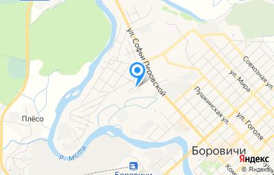 Местоположение на карте пункта техосмотра по адресу Новгородская обл, г Боровичи, ул Ткачей, д 26