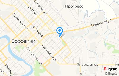 Местоположение на карте пункта техосмотра по адресу Новгородская обл, г Боровичи, ул Тинская, д 33В