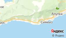 Отели города Оползневое на карте