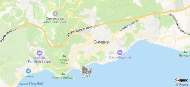 Дома Симеиза под-ключ - объекты на карте