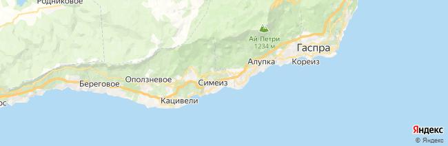 Симеиз на карте