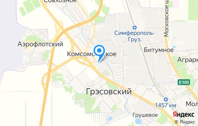 Местоположение на карте пункта техосмотра по адресу Респ Крым, г Симферополь, пгт Комсомольское, ул Зеленая, д 11