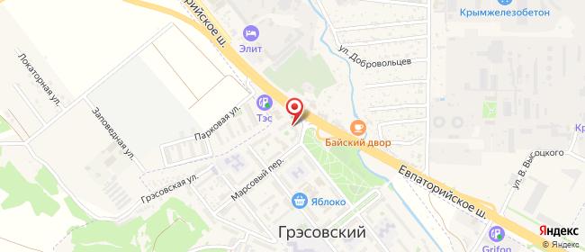 Карта расположения пункта доставки ГРЭС в городе Симферополь