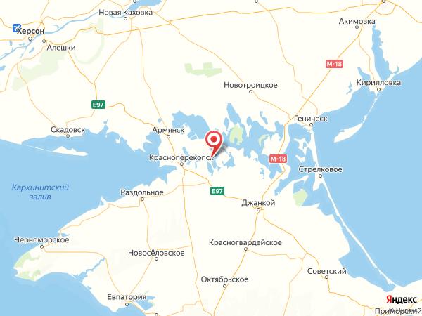 село Красноармейское на карте