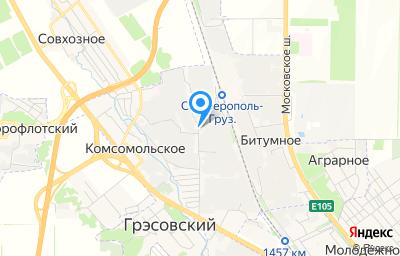 Местоположение на карте пункта техосмотра по адресу Респ Крым, г Симферополь, пгт Грэсовский, ул Монтажная, д 15А