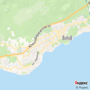 Карта города Алупки