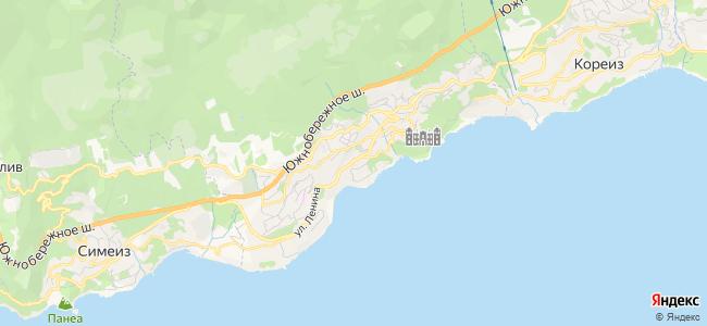 Частный сектор Алупки - объекты на карте