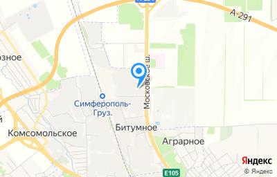 Местоположение на карте пункта техосмотра по адресу Респ Крым, г Симферополь, км Московского шоссе 11