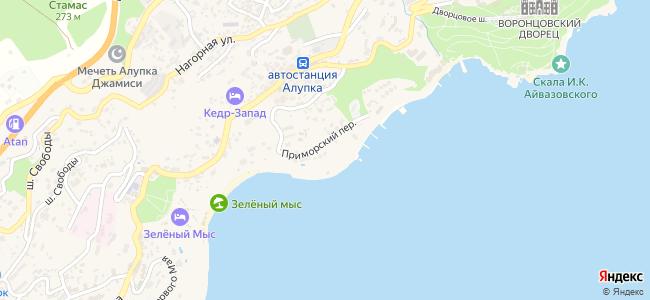 Алупка - объекты на карте