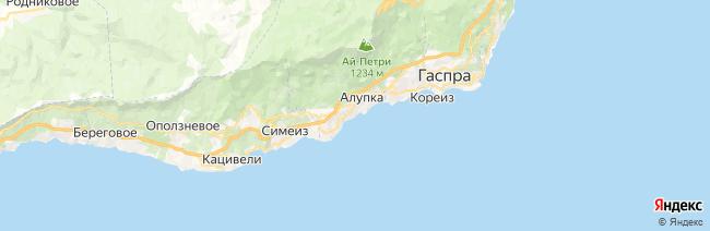 Алупка на карте