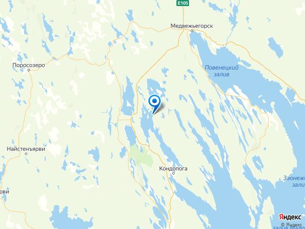 деревня Ерши на карте