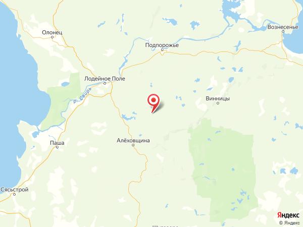 деревня Шапша на карте
