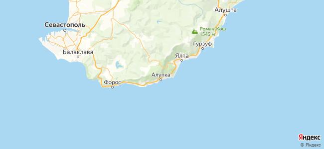 Большая Ялта - объекты на карте