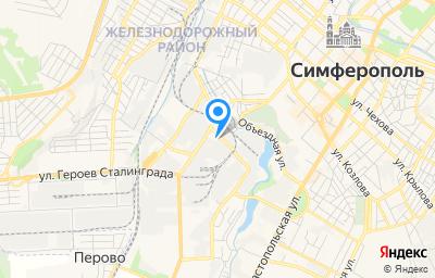 Местоположение на карте пункта техосмотра по адресу Респ Крым, г Симферополь, ул Трансформаторная, д 3Б