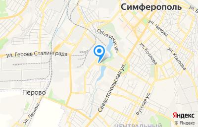 Местоположение на карте пункта техосмотра по адресу Респ Крым, г Симферополь, ул Севастопольская, д 31Г