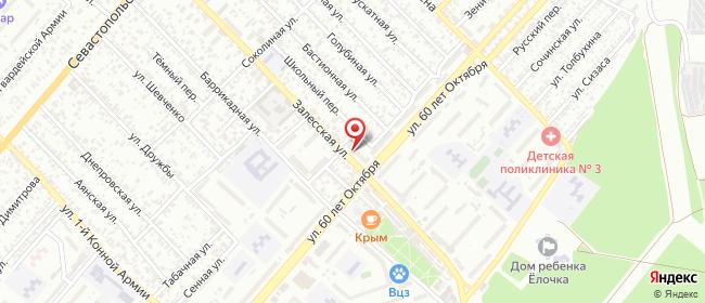 Карта расположения пункта доставки Симферополь 60 лет Октября в городе Симферополь