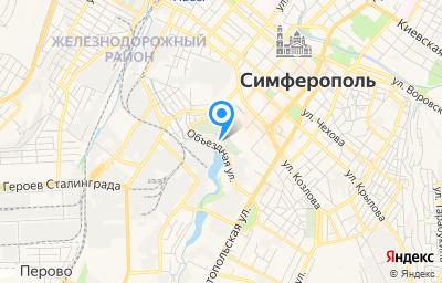 Местоположение на карте пункта техосмотра по адресу Респ Крым, г Симферополь, ул Объездная, д 6