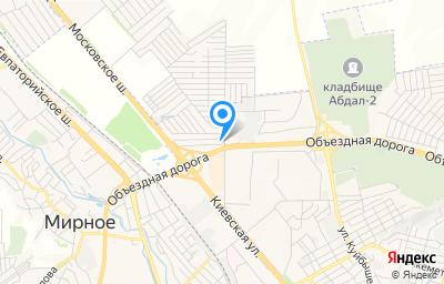 Местоположение на карте пункта техосмотра по адресу Респ Крым, Симферопольский р-н, пгт Молодежное, ул Ялтинская, д 1, кв 3