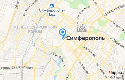 Местоположение на карте пункта техосмотра по адресу Респ Крым, г Симферополь, ул Маяковского, д 14