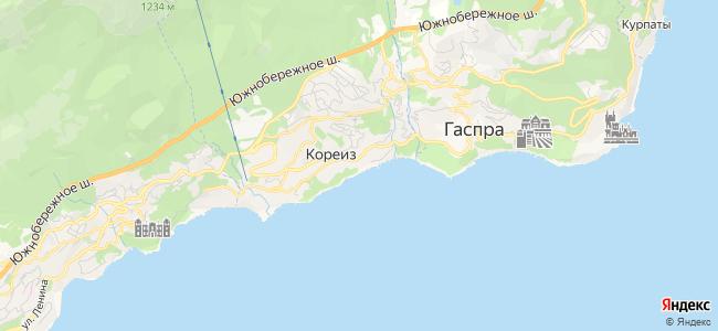 Кореиз - объекты на карте