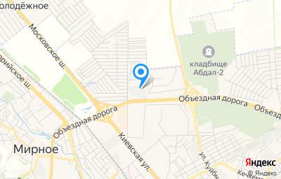 Местоположение на карте пункта техосмотра по адресу Респ Крым, г Симферополь, пер Лавандовый, д 2