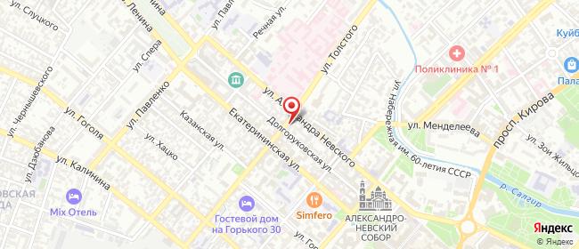 Карта расположения пункта доставки Симферополь Толстого в городе Симферополь