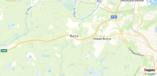 Вилга на карте