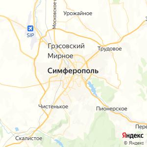 Карта города Симферополя
