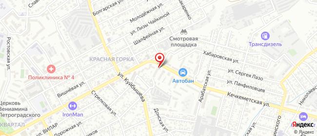 Карта расположения пункта доставки На Кечкеметской в городе Симферополь