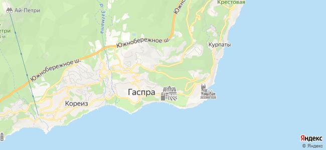 Гостиницы Гаспры - объекты на карте