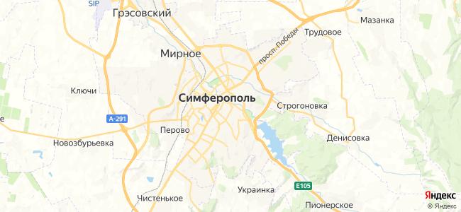 Хостелы Симферополя - объекты на карте